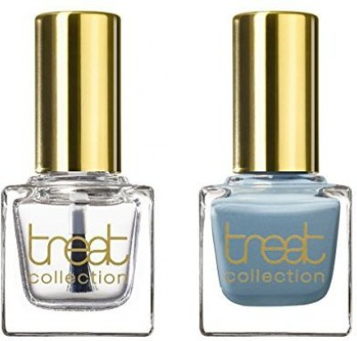 treat collection Natural Duo Top And Base Coat Blue Sky Count DUO03 15 ml