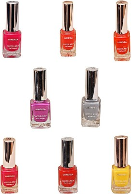 Lorenza Combo Set-27 Nail Lacquer (Pack Of 8) 15 ml
