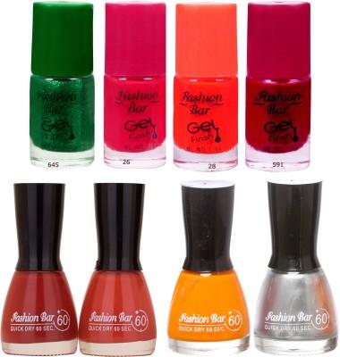 Fashion Bar Neon Shades 245 Nail polishes Combo 56 ml