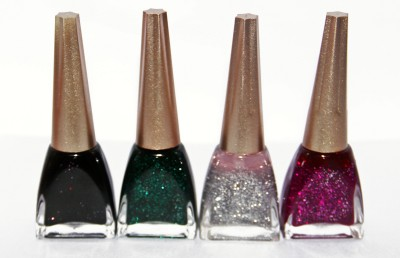 OSRS Pack of 4 Sparkling Nail Polish 12 ml