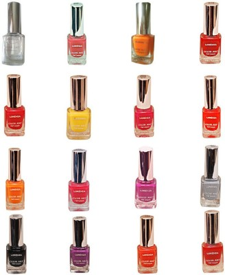 Lorenza Combo Set-1 Nail Lacquer (Pack Of 16) 15 ml