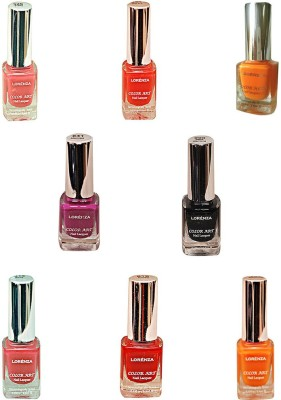 Lorenza Combo Set-4 Nail Lacquer (Pack Of 8) 15 ml
