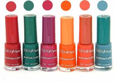 Color Fever Nail Polish Combo 2-9-12-32-33-35 N 30 ml