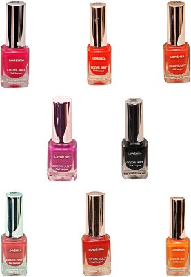 Lorenza Combo Set-21 Nail Lacquer (Pack Of 8) 15 ml