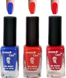 Aroma Care Blue+Pink Matte Nail Polish Combo 6-8-12 29.7 ml