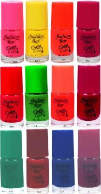 Fashion Bar Neon Nail Polish Combo 04 60 ml(Multicolor)