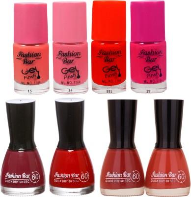 Fashion Bar Neon Shades pinkish Nail polishes Combo 56 ml