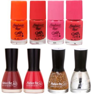 Fashion Bar Neon Shades 239 Nail polishes Combo 56 ml