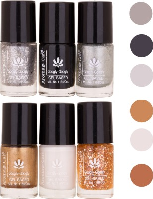 Aroma Care Multicolor Matte Nail Polish Combo 03-05-10-11-White-Black 36 ml