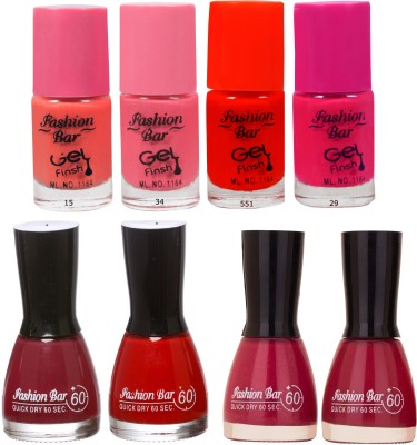 Fashion Bar Neon Shades Nail polishes Combo 56 ml