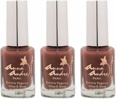 Anna Andre Paris Set of 3 Nail Polishes 9 ml