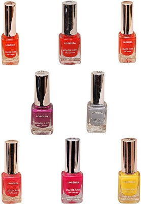 Lorenza Combo Set-9 Nail Lacquer (Pack Of 8) 15 ml