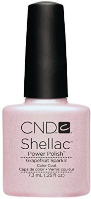 CND Cosmetics Cnd Shellac Uv Color Coat Grapefruit Sparkle C40550 7.5 ml
