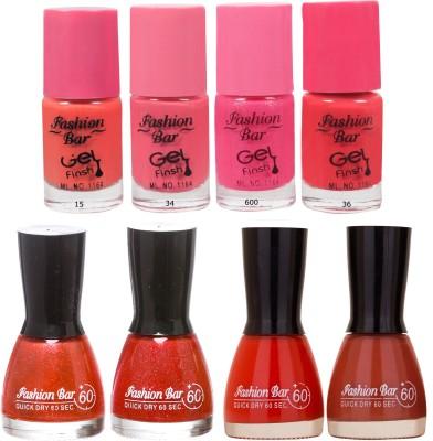 Fashion Bar Neon Shades 234 Nail polishes Combo 56 ml