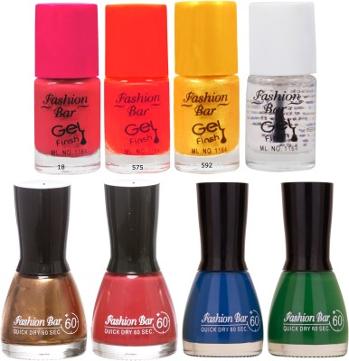 Fashion Bar Neon Shades beauty Nail polishes Combo 56 ml