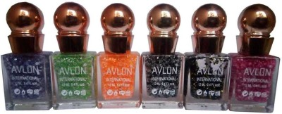 Avlon Glitter Nail Polish A.G.N.P-F6 12 ml
