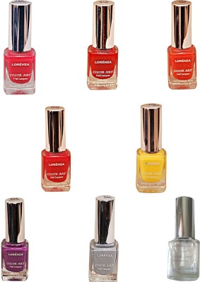 Lorenza Combo Set-1 Nail Lacquer (Pack Of 8) 15 ml