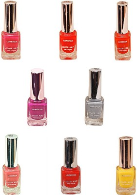 Lorenza Combo Set-15 Nail Lacquer (Pack Of 8) 15 ml