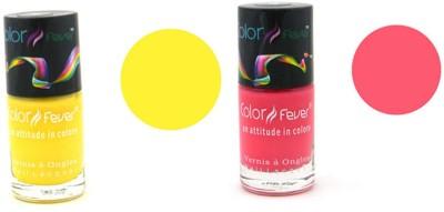 Color Fever Pink Yellow Nail Polish 19 ml