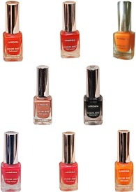 Lorenza Combo Set-8 Nail Lacquer (Pack Of 8) 15 ml