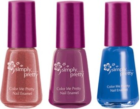 Avon Color Me Pretty Nail Enamel (set of 3) 15 ml(pretty plum-navy blue-pink passion)