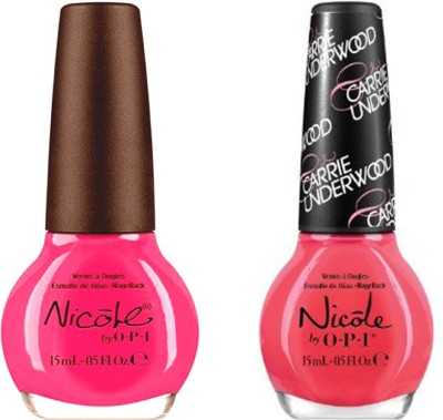 opi Nicole Pack Of 2 30 ml(Still into pink ni 409, some hearts ni u12)