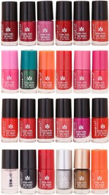 Aroma Care MAB Multicolor 2 in 1 Color Cap Nail Polish Sets in Wholesale Rate ( Set No. 147) 144 ml(Light Pink, Green, Orange, Red, Nude, Peach, Base Coat, Black, Red, Silver, Golden, Orange)
