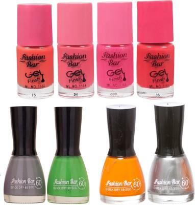 Fashion Bar Neon Shades great Nail polishes Combo 56 ml