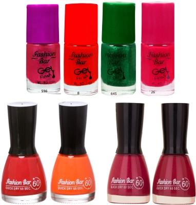 Fashion Bar Neon Shades 242 Nail polishes Combo 56 ml