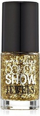 Maybeline New York Color Show Jewels Nail Lacquer Top Coat, Gilded in Gold 15 ml