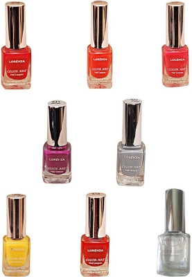 Lorenza Combo Set-19 Nail Lacquer (Pack Of 8) 15 ml