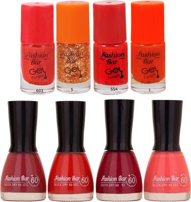 Fashion Bar Neon Shades 246 Nail polishes Combo 56 ml