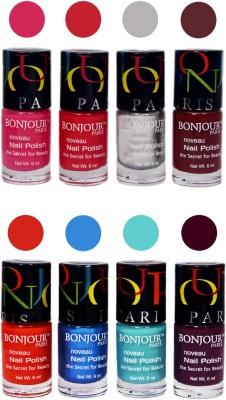 Bonjour Paris Matte Nail Polish Combo 8-9 48 ml
