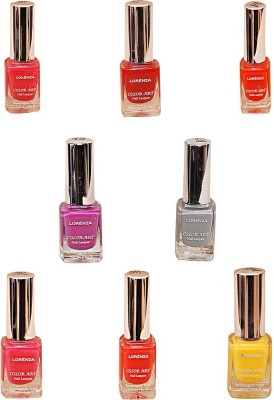 Lorenza Combo Set-17 Nail Lacquer (Pack Of 8) 15 ml
