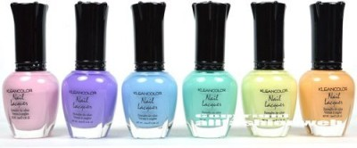 Kleancolor New Pastel Summer Collection Lot Lacquer Colors + Free Earring 15 ml