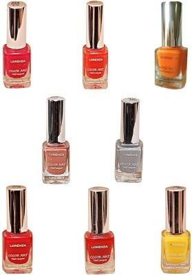 Lorenza Combo Set-23 Nail Lacquer (Pack Of 8) 15 ml