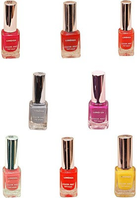 Lorenza Combo Set-5 Nail Lacquer (Pack Of 8) 15 ml