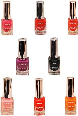 Lorenza Combo Set-24 Nail Lacquer (Pack Of 8) 15 ml