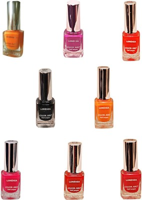 Lorenza Combo Set-10 Nail Lacquer (Pack Of 8) 15 ml