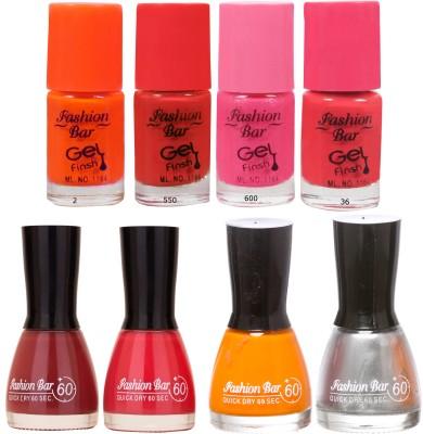 Fashion Bar Neon Shades 240 Nail polishes Combo 56 ml