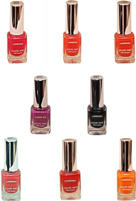 Lorenza Combo Set-14 Nail Lacquer (Pack Of 8) 15 ml