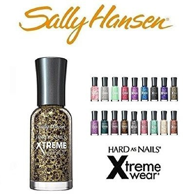 SALLY HANSEN 10 Hard as Nails Xtreme Wear 10 Fingernail Polish's All Different Colors No Repeats 15 ml