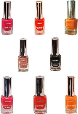 Lorenza Combo Set-18 Nail Lacquer (Pack Of 8) 15 ml