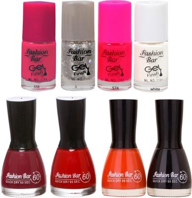 Fashion Bar Neon Shades metrices Nail polishes Combo 56 ml