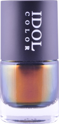 Idol Color Imported COLOR CHANGING Nail Polish shade shifts from vivid hues of Red to Rosy Reddish Burgundy, Orange, Bronze, Gold, Copper and hints of Yellow and Green ID - 212 10 ml