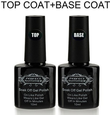 Perfect Summer Uv Led Gel Soak Off Clear Lacquers Soak Off Gel Base Coat Primer And Top Coat Sets Kits GPB100TB_FBA 10 ml
