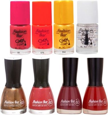 Fashion Bar Neon Shades multy Nail polishes Combo 56 ml