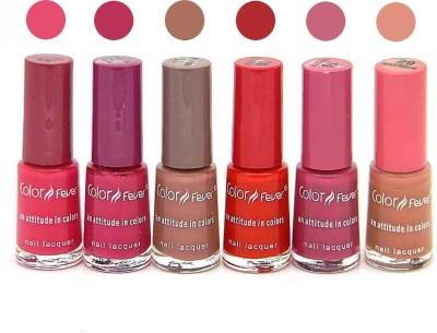 Color Fever Nail Polish Combo 11-12-15-16-19-2 N 30 ml