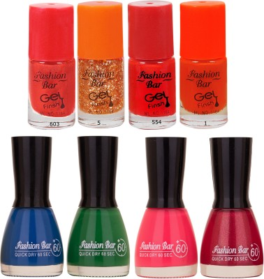 Fashion Bar Neon Shades 250 Nail polishes Combo 56 ml