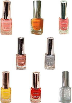 Lorenza Combo Set-13 Nail Lacquer (Pack Of 8) 15 ml